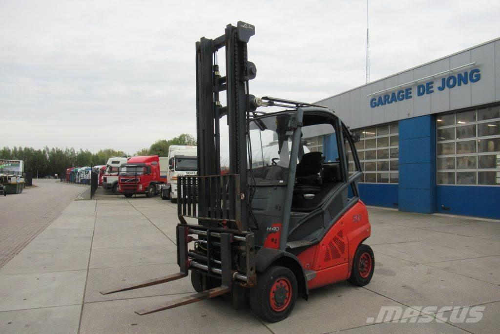 Linde H40D / vorkenversteler / Side-shift / Fork positio