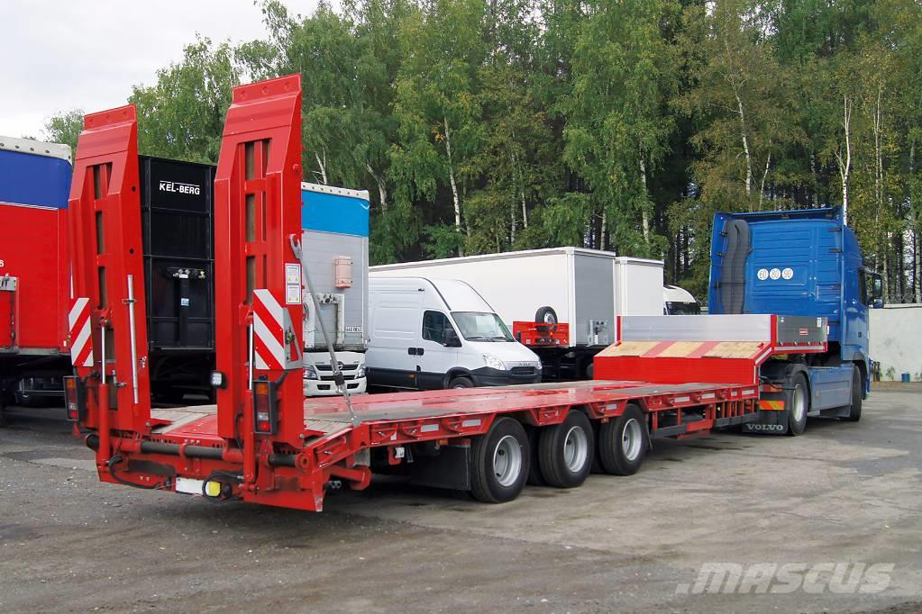 Grunwald 3-axle lowbed heavy duty semitrailer