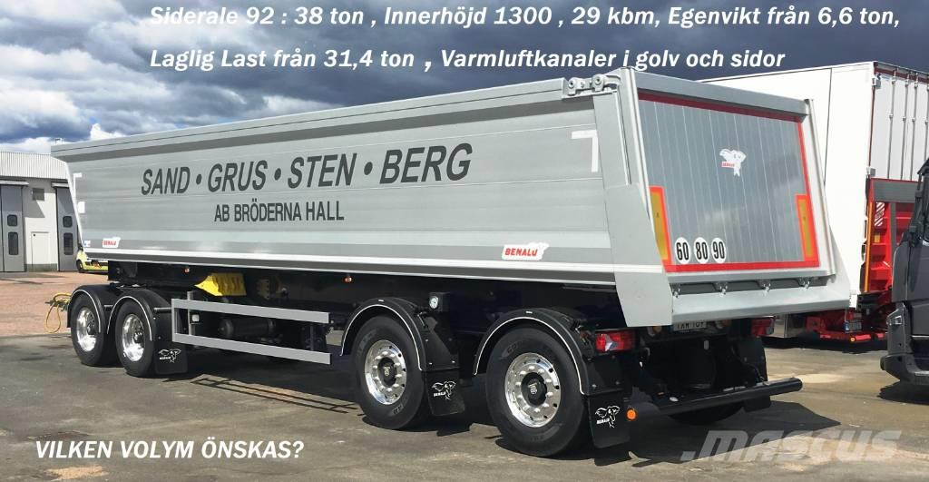 Benalu Siderale 38 ton VIKT 6,6 TON , 30 kbm Tippsläpvagn