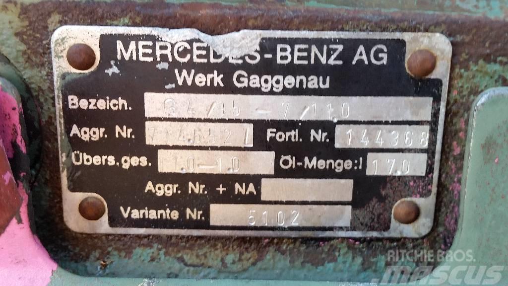 Mercedes-Benz AKG4.95-7.110, Växellådor