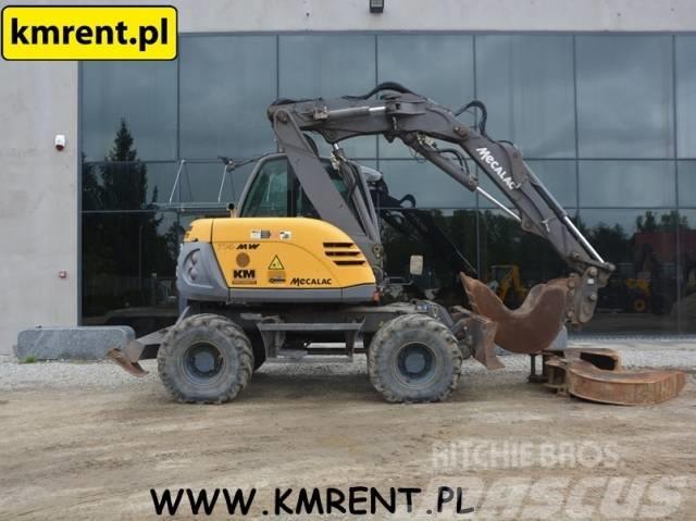 Mecalac 714MW KOMATSU PW98 110 CAT M 312 JCB JS 130 145