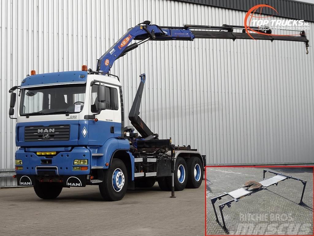MAN TGA 33.390 6x4 12TM Kraan, Crane, Kran - Haakarm,