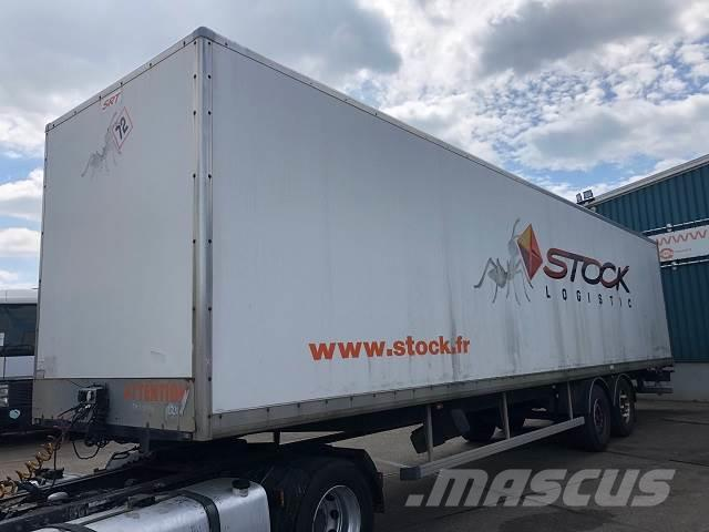 Trouillet SAA2 23 2-AXLE PLYWOOD CLOSED BOX TRAILER