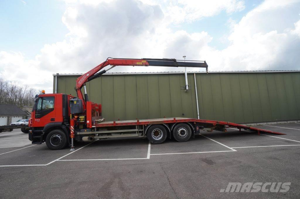 Iveco STRALIS 360 6X2 MACHINE TRANSPORT WITH FASSI F 230