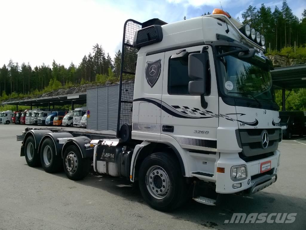 Mercedes benz actros 3260 8x4 4 akselinen puuauto timber for Mercedes benz inspection cost