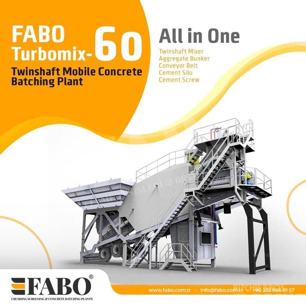 Fabo 60m3/h NEW GENERATION MOBILE CONCRETE PLANT, 2020