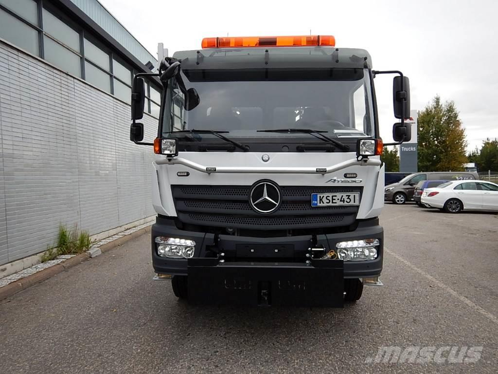 Mercedes-Benz ATEGO 1527 4x4 - Aurausvarustus - Palfinger koukku, 2016, Lastväxlare/Krokbilar