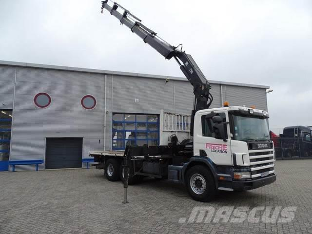 Scania 124-420 / MANUAL / HIAB 280-4 CRANE WITH REMOTE CO