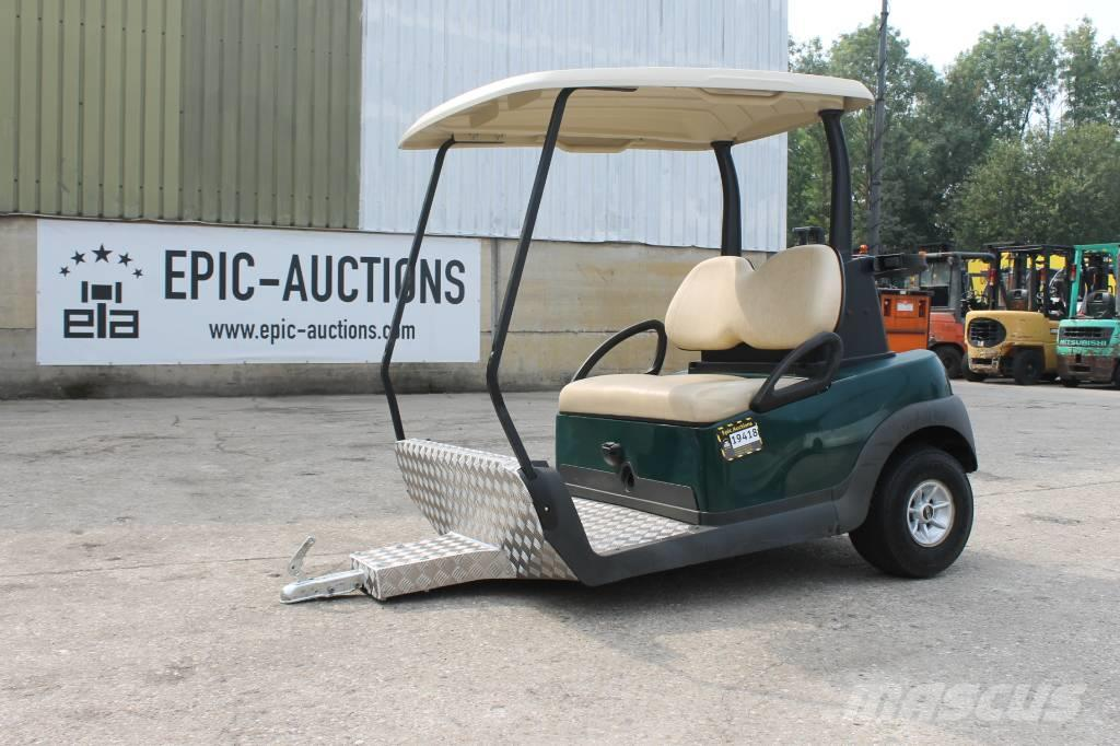Purchase Club Car -aanhanger golf carts, Bid & Buy on Auction ... on custom yamaha golf carts, flat black pimped out golf carts, club car dump carts, old car golf carts, yamaha utility golf carts, gas powered golf carts, enclosed golf carts,