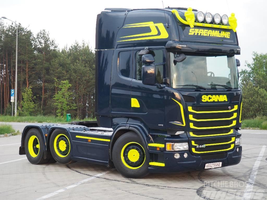 Scania R440 EURO6 6x2/4 PUSCHER 2013 NOWY MODEL