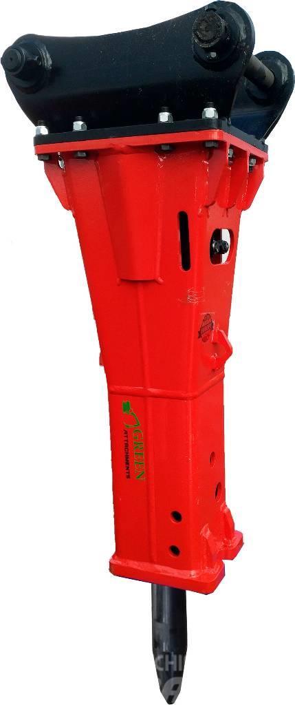 Green Hydraulinen iskuvasara Red 125 Breaker