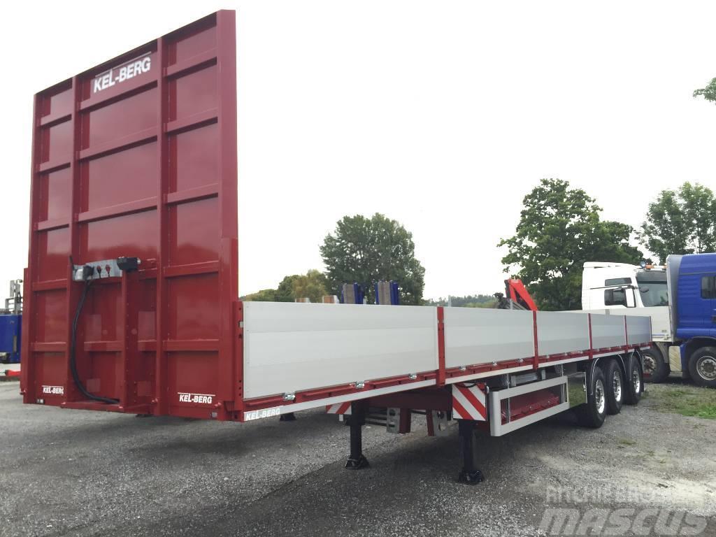 Kel-Berg D105V Åpen trailer m 60 cm Alusider