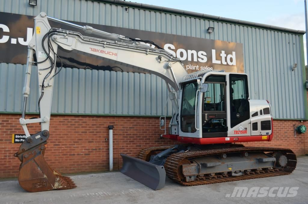 Takeuchi TB2150R WITH BLADE, LOW HOURS.