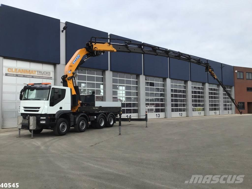 Iveco Trakker AT410T45 8x4 Effer 85 ton/meter laadkraan