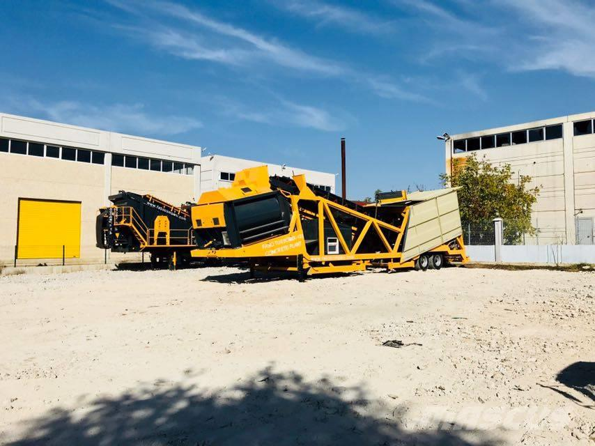 Fabo 120M3/H MOBILE CONCRETE BATCHING PLANT -  IN STOCK