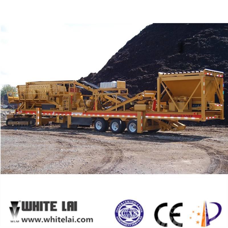 White Lai Mobile Cone Crusher Crushing Plant WL3S2160C138