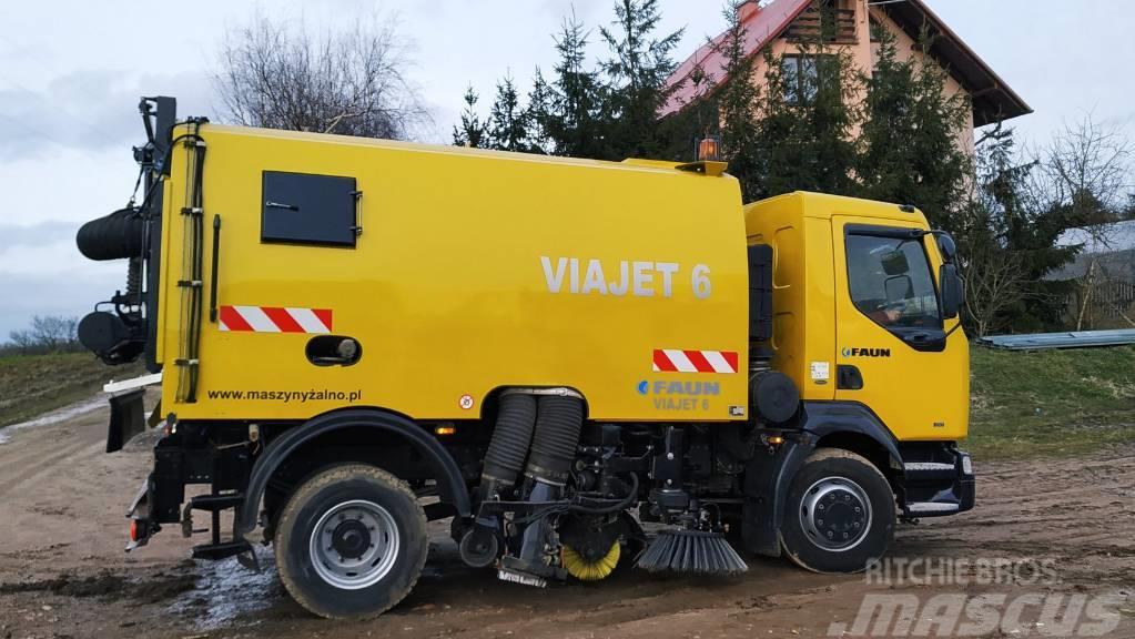 Renault MIDLUM 210 FAUN VIAJET 6m3 - Zamiatarka