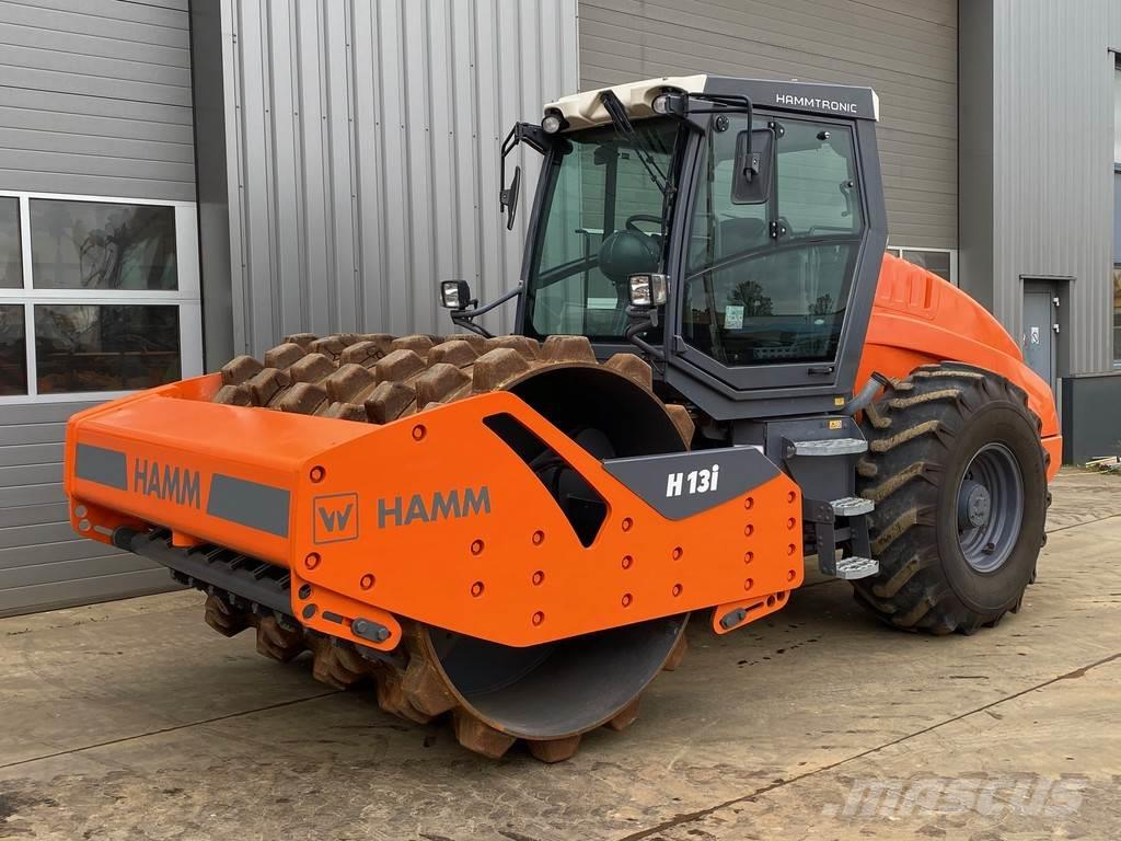 Hamm H13IP Padfoot Single Drum Vibrating Roller c/w A/C