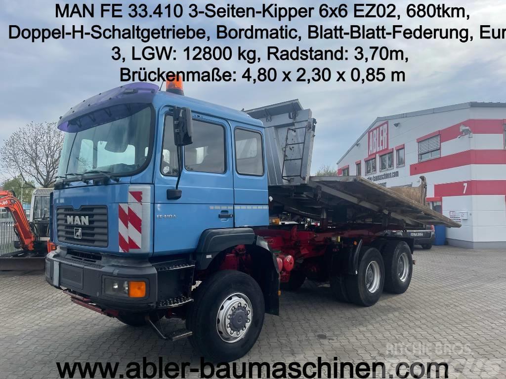 MAN FE 33.410 3-Seiten-Kipper m. Bordmatic 6x6