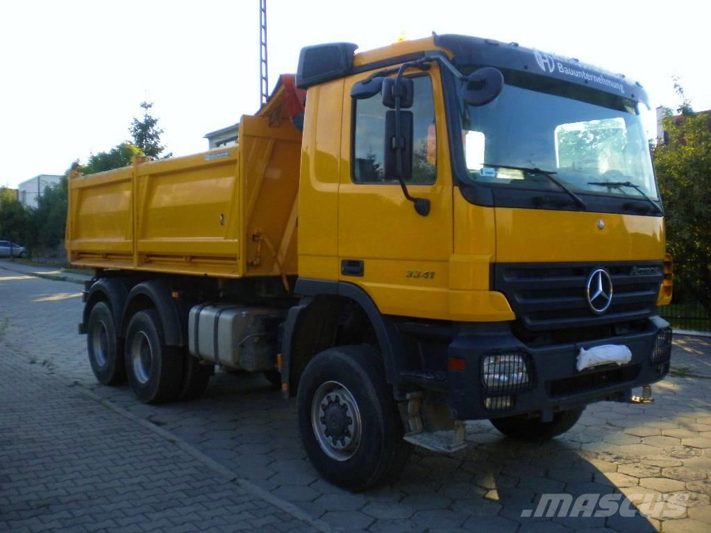 used mercedes benz actros 3341ak mp2 6x6 kipper meiller dump trucks year 2007 for sale. Black Bedroom Furniture Sets. Home Design Ideas