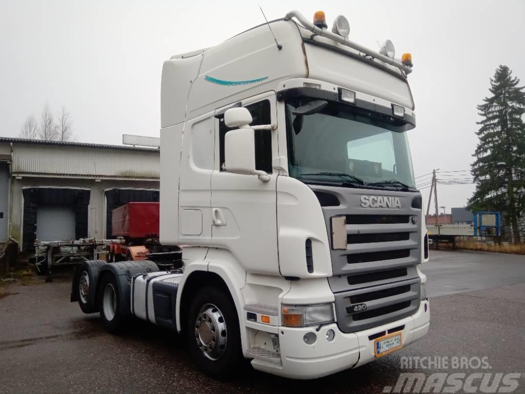 Scania R420 6x2 takateli,hydrauliikka
