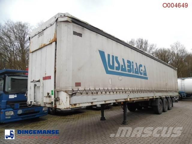 Montenegro 3-axle curtain side trailer + side boards / 36000K