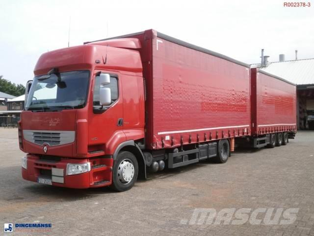 Renault Premium 460.19 4x2 volume curtain sider + trailer