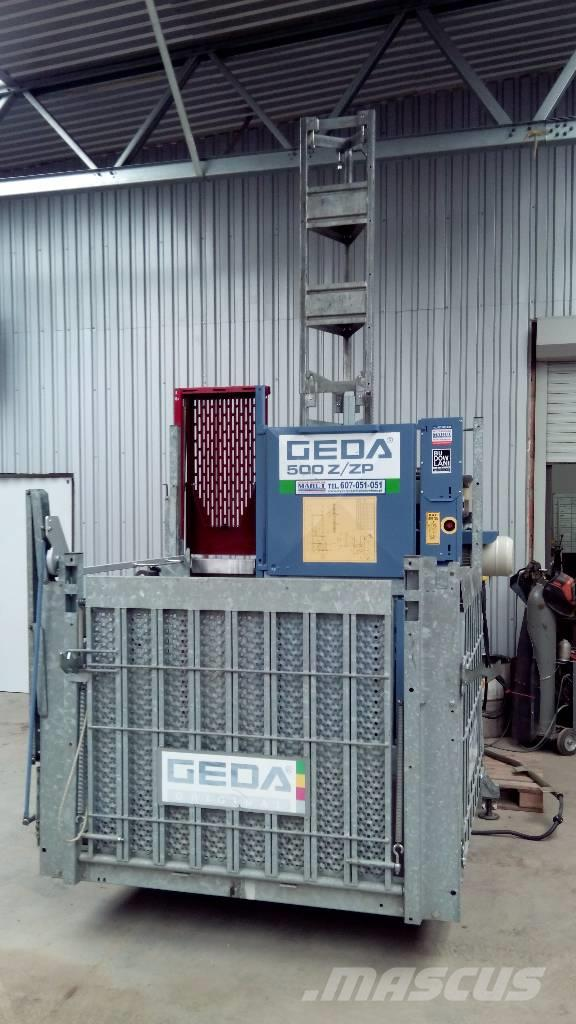 Used Geda 500 Z ZP hoists and material elevators Year: 2012