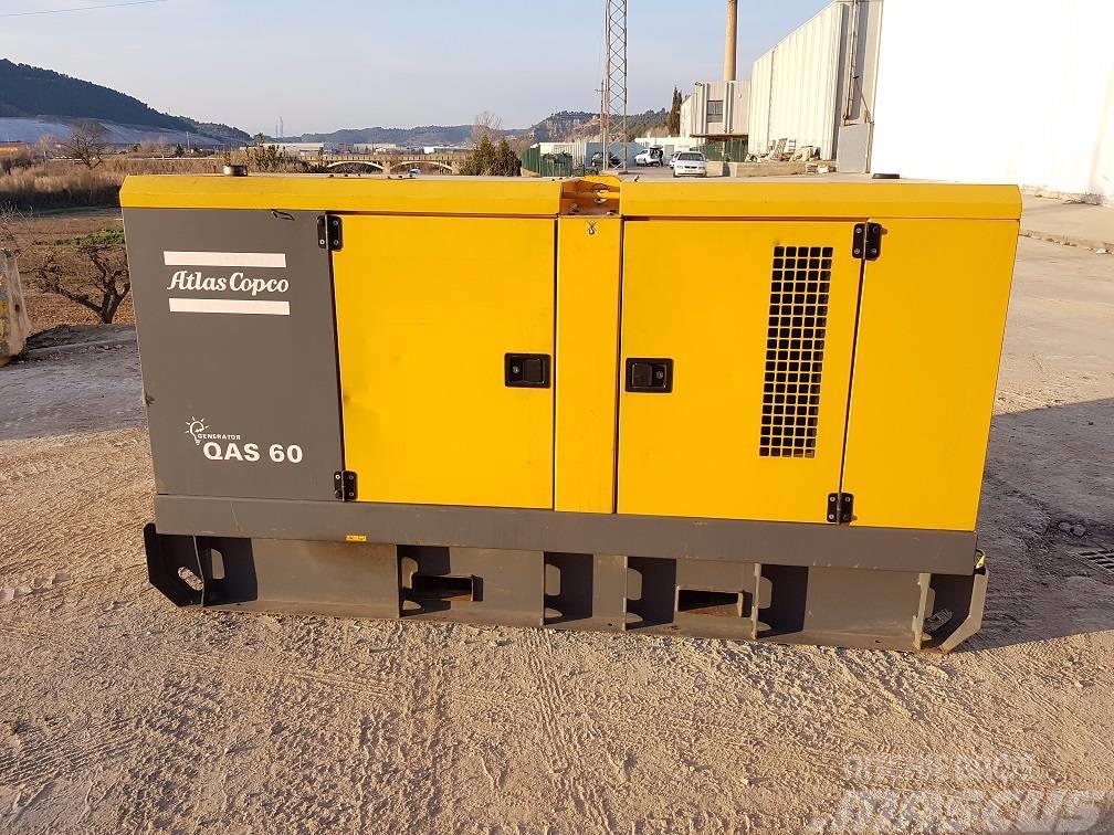 Used Atlas Copco Qas 60 Diesel Generators Year  2011 Price
