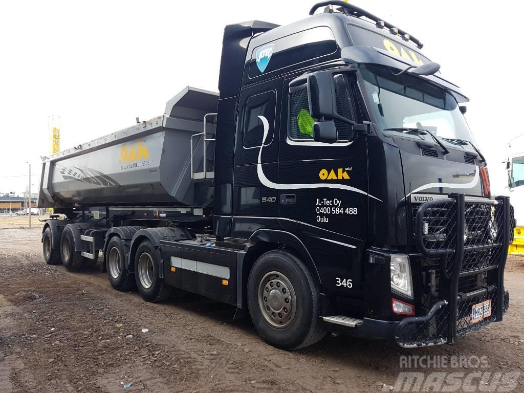 Volvo FH540 6x4 + Carnehl 2aks