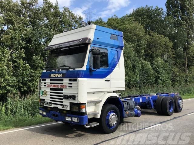 Scania 143M 420 topline 6x2 Retarder Airco luchtge