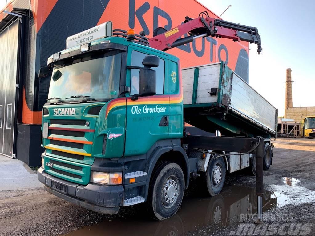 Scania R480 Tipper+HMF Three side