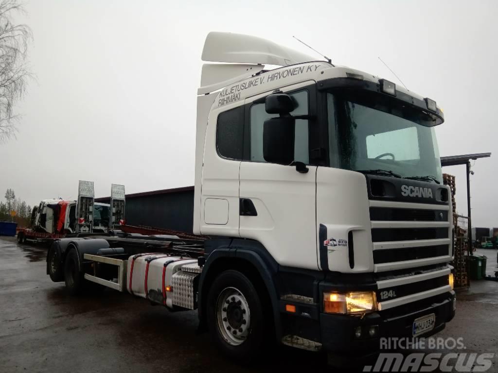 Scania R124 6x2 täysilma alusta,ohj.teli