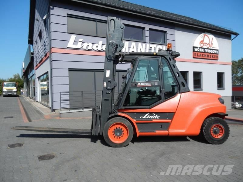 Linde H80D-02/1100 Triplex , side shift Kaup