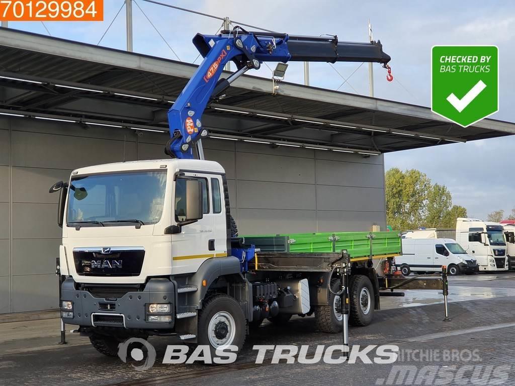 MAN TGS 33.440 6X6 NEW! EU-Papers 6x6 Kran Crane PM 47