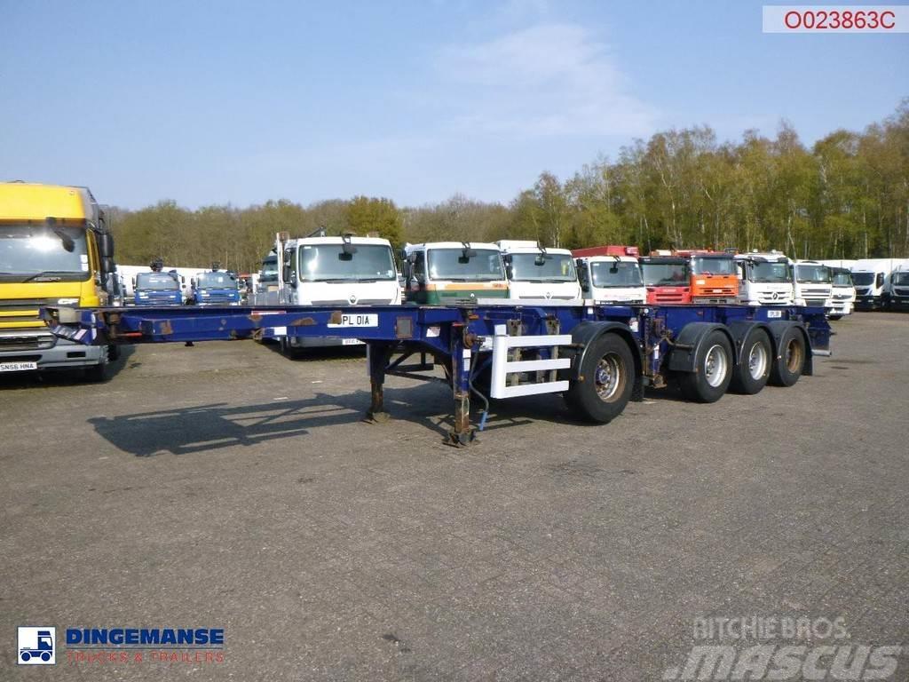 Dennison 4-axle container combi trailer (3 + 1 axles) 20-30