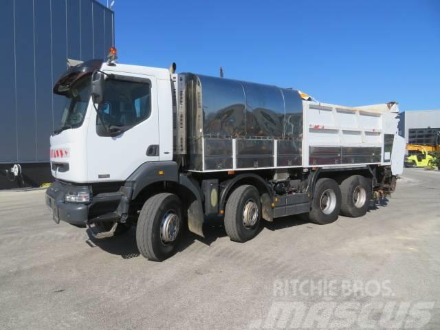 Renault 420 DC Bitumen truck with splitter spreader