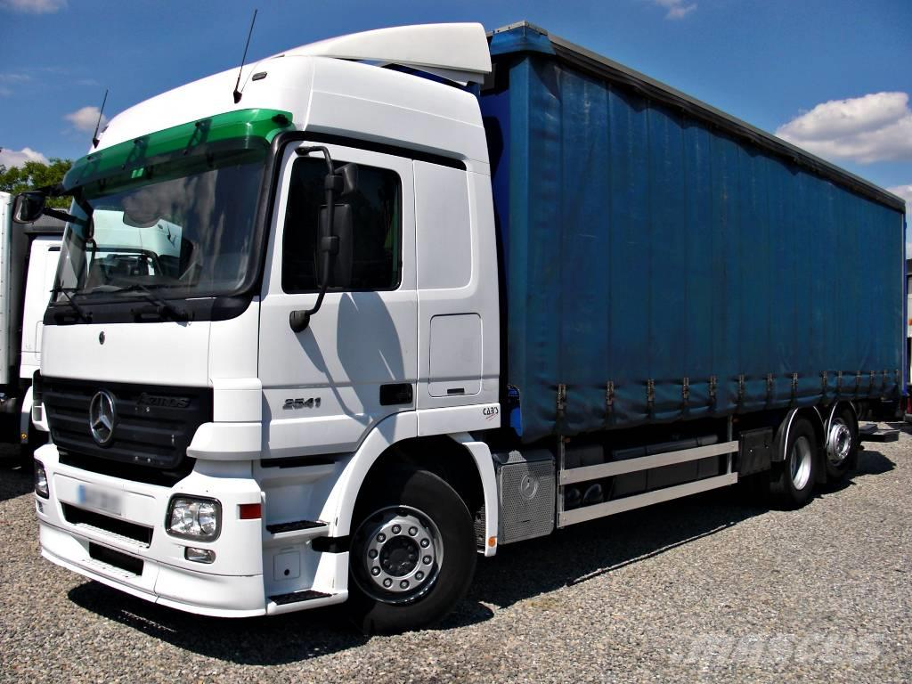 Mercedes-Benz Actros 2541 NLG 6x2 Curtain 22P BED A/C Axor, ...