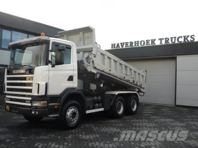 Scania 124C 420 6x4 EMPL 2 SIDE STEEL TIPPER