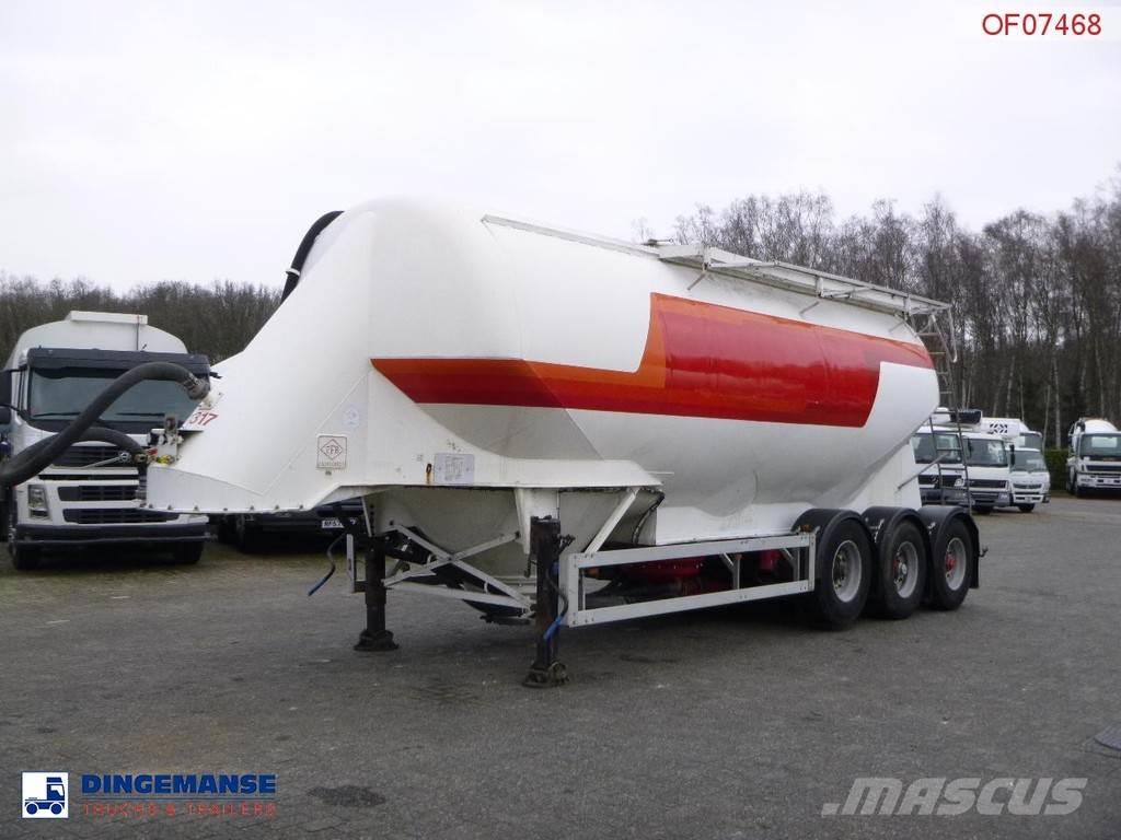 Feldbinder Powder tank alu 38 m3 / 1 comp