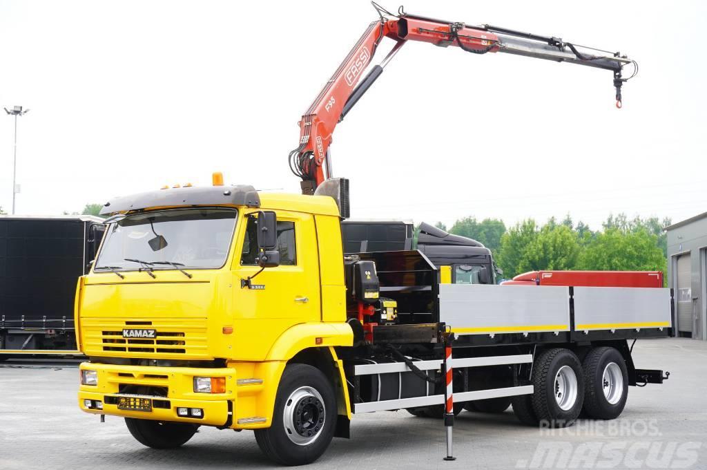 Kamaz 65117 , 6x4 , Crane FASSI 95 , rotator , box 6m