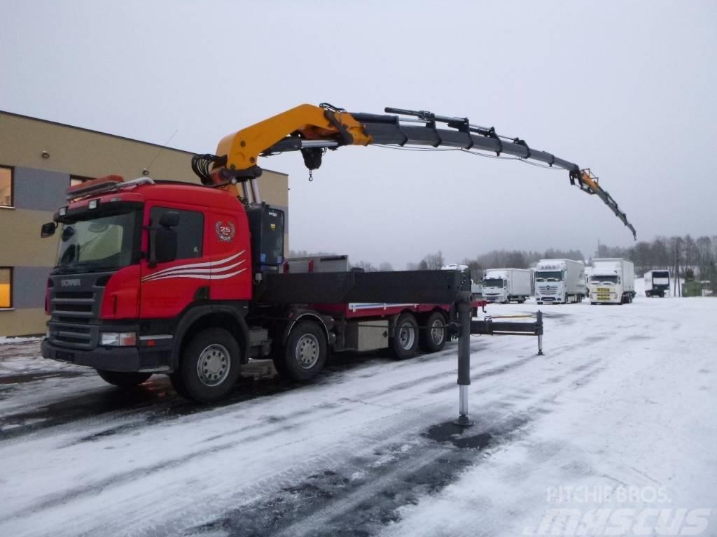 Scania P420 8x2*4 + CRANE COPMA 990