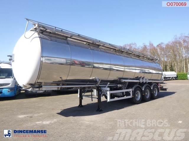 Feldbinder Chemical tank inox 37.5 m3 / 1 comp / ADR 06-2020