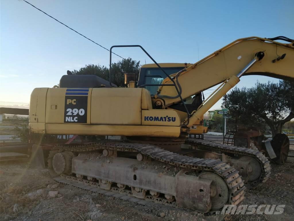 Komatsu PC290NLC-7K excavator of chains (Hitachi-Kobelco)