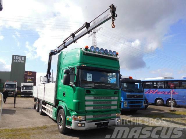 Scania R 144 460 6x4 + Palfinger PK19000 D