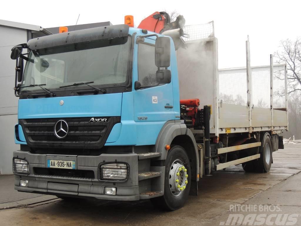 Mercedes-Benz Axor 1828 platforma + Żuraw PALFINGER PK 12000
