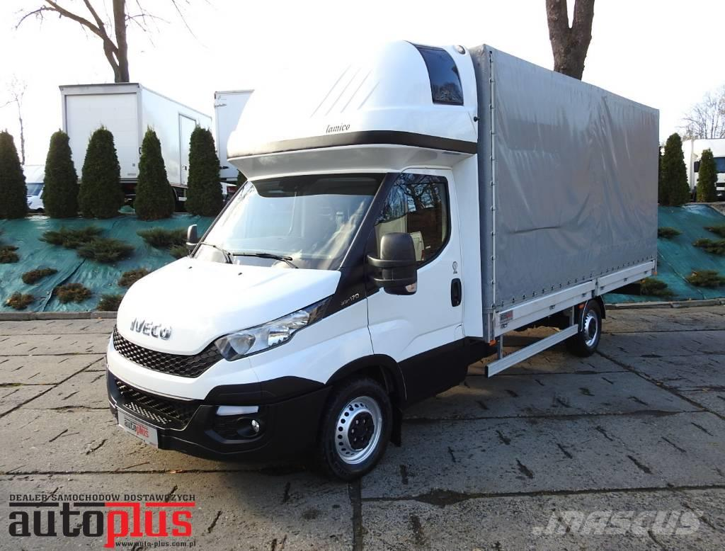 used iveco daily 35s17 tarpaulin 10 palets a c webasto pickup trucks year 2015 price 23 962. Black Bedroom Furniture Sets. Home Design Ideas