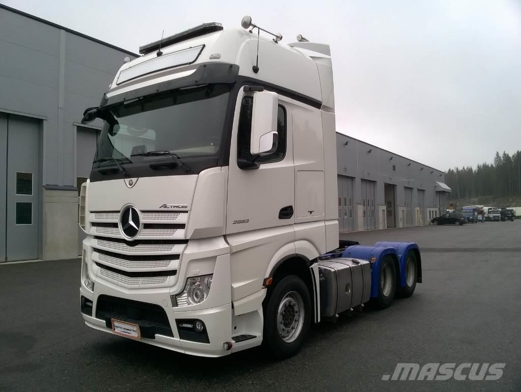 used mercedes benz actros 2663ls gigas 6x4 tractor units year 2015 price 123 478 for sale. Black Bedroom Furniture Sets. Home Design Ideas