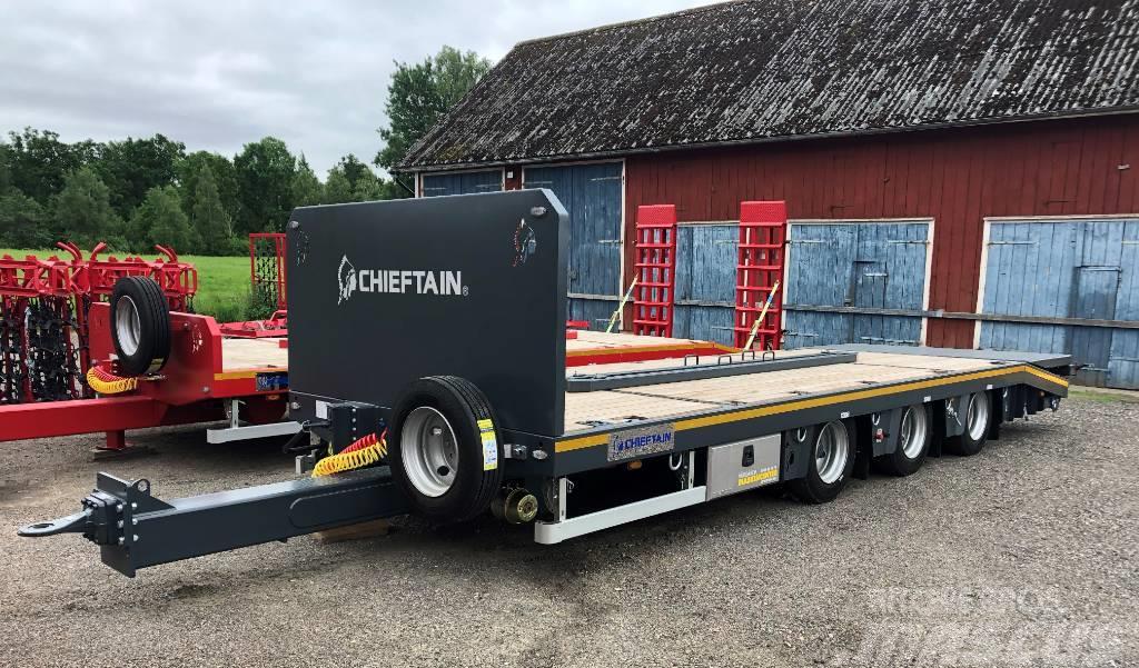 Chieftain 3-axl Allroundkärra lastbil vikbar ramp
