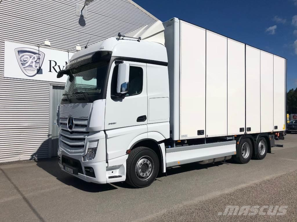 used mercedes benz actros 2551l sk p fabriksny box trucks year 2018 for sale mascus usa. Black Bedroom Furniture Sets. Home Design Ideas